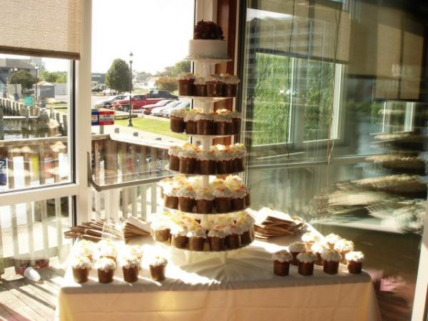 Cupcake tower at wedding