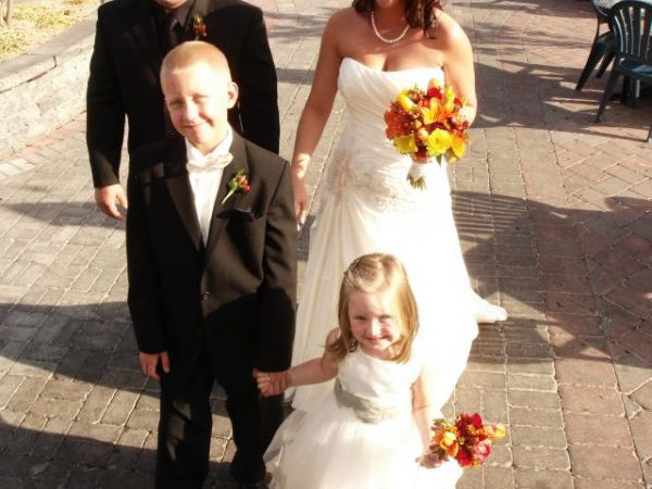 Children dressed up for wedding