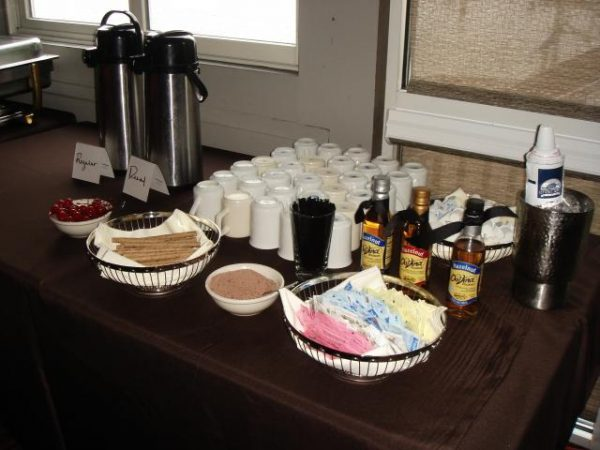 Coffee Bar at Wedding