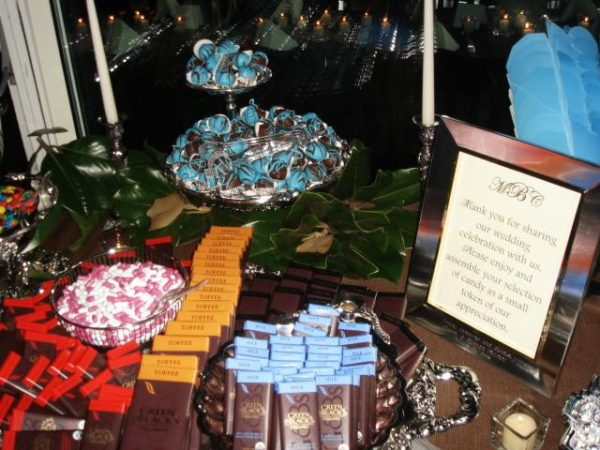 Chocolate bar at Wedding