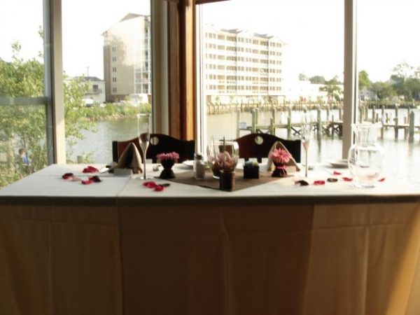 Wedding couple table