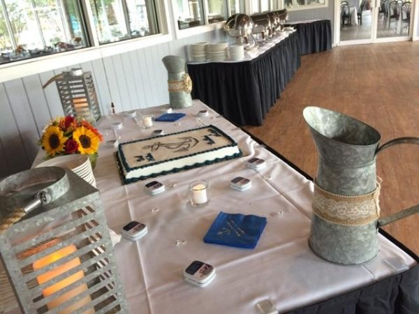 Table set with rustic decor