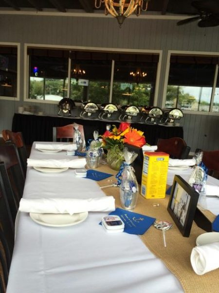 Old Bay themed wedding table